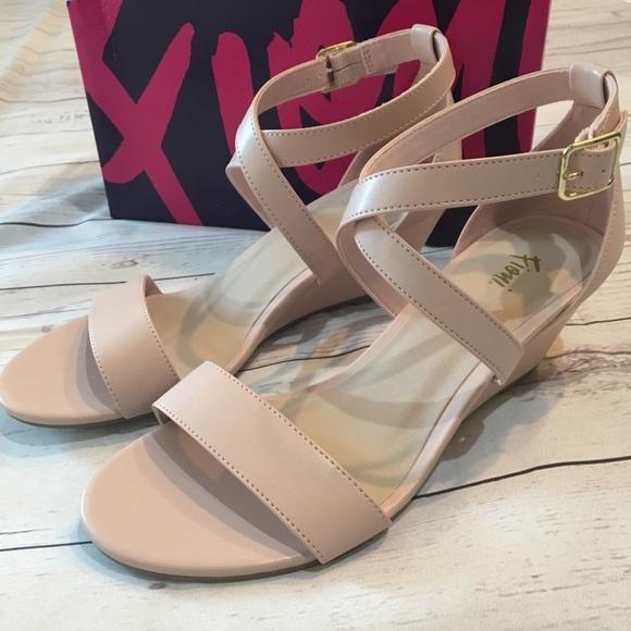 73dd0f8635a NWT FIONI Princess Blush Pink Wedge Sandals